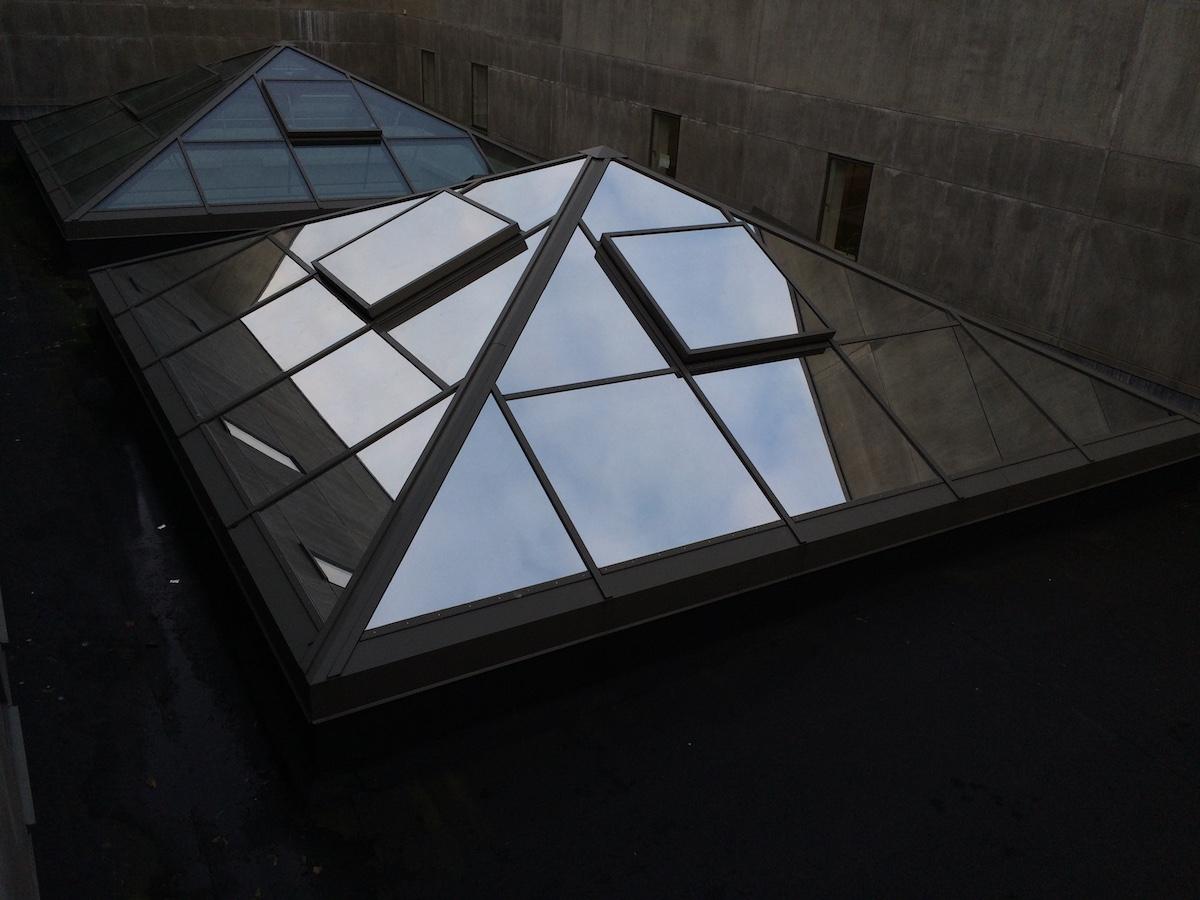 3M udvendig spejl solfilm monteret på glastag