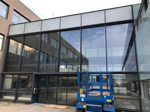 3M Prestige 70 ext monteret på facade hos Nordea